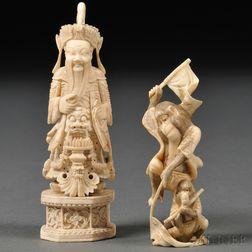 Two Ivory Okimonos