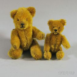 Two Small Mohair Bears Including a Schuco Compact Bear