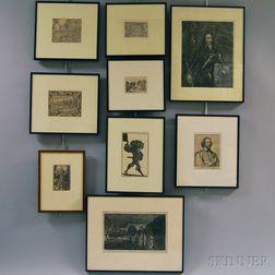 Seventeen Old Master Prints, Many Late Impressions: German School, 16th Century Style, Temptation of Christ; Dirk Volkertsz Coornhert (