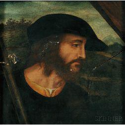 Northern Italian School, 16th Century      Profile of a Man in a Dark Cap