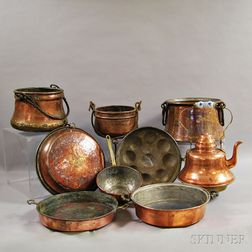 Nine Copper Vessels