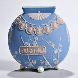Wedgwood Tricolor Jasper Dip Prunus Vase
