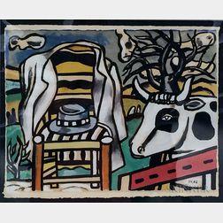 After Fernand Léger (French, 1881-1955)      La Chaise et la Vache
