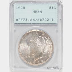 1928 Peace Dollar, PCGS MS64