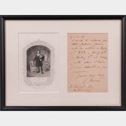Kean, Charles (1811-1868) Autograph Letter Signed, and Two Satirical Prints.