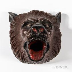 Cast Iron Bear Head Plaque