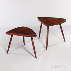 """George Nakashima (1905-1990) """"Wohl"""" and """"Wepman"""" Tables"""