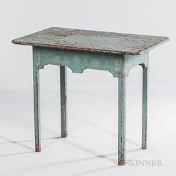 Blue-painted Tea Table