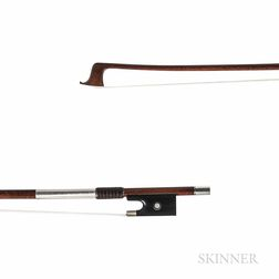French Nickel-mounted Violin Bow, Marc Laberte, c. 1950