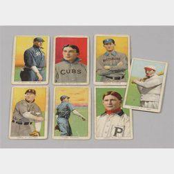 Seven 1909-1911 T-206 Sweet Caporal Baseball Tobacco Cards