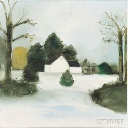 Maureen Gallace (American, b. 1960)      Bare Trees Winter