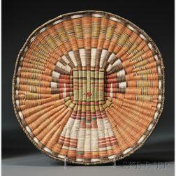 Hopi Polychrome Wicker Plaque