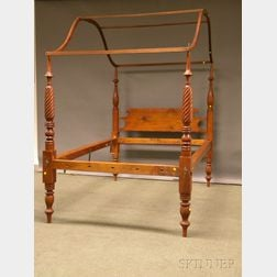 Classical Turned Maple Tall Post Bed with Canopy