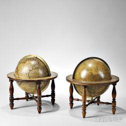Josiah Loring's 12-inch Celestial and Terrestrial Globes