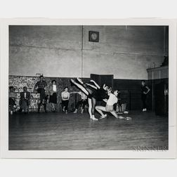 Walker Evans (American, 1903-1975)  Four Works: Ballet Theatre Rehearsal, Metropolitan Opera House, New York City, Made for the Fortune