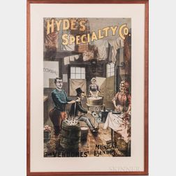 Hyde's Speciality Co., The Vendomes' Musical Laundry, Poster.