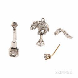 Small Group of Diamond Jewelry