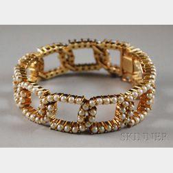 14kt Gold and Pearl Bracelet