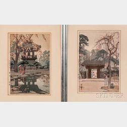 Two Hiroshi Yoshida (1876-1950) Woodblock Prints