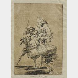 Francisco de Goya (Spanish, 1746-1828)      Unos à ostros