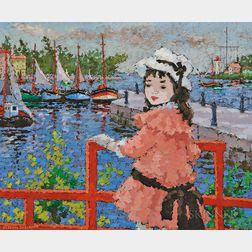 Suzanne Eisendieck (German, 1908-1998)      Quai à Honfleur