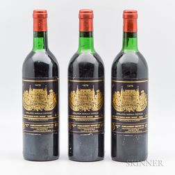 Chateau Palmer 1979, 3 bottles