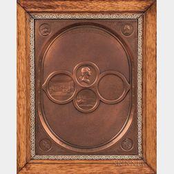 Cast Copper The National Medallion In Memorium Majorum   Plaque