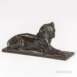 Alexander Phimister Proctor (act. America, 1860-1950)       Bronze Figure of the Princeton Tiger