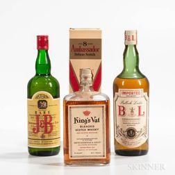 Mixed Scotch, 1 quart bottle 3 4/5 quart bottles (1 oc) Spirits cannot be shipped. Please see http://bit.ly/sk-spirits for more info.