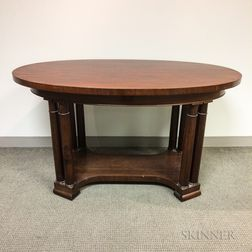 Classical-style Mahogany Library Table