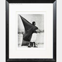 Tina Modotti (Italian, 1896-1942)      Woman with Flag