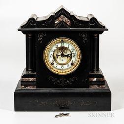 Ansonia Belgian Slate Mantel Clock