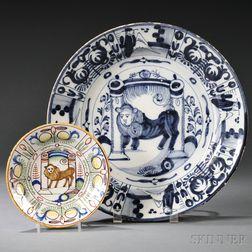 Two Dutch Delft Plates