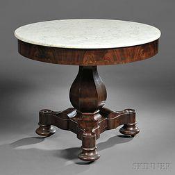 Classical Mahogany and Mahogany Veneer Center Table