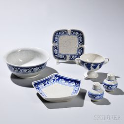 Six Dedham Pottery Serving Pieces