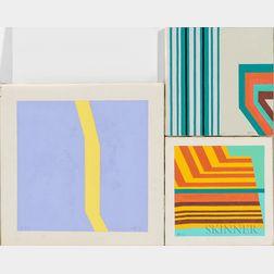 Anton B. Vizy (American, 1937-2016)      Three Paintings: No. 12-2 ,  No. 5-5