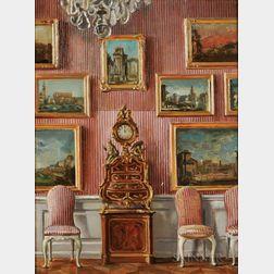 William Bruce Ellis Ranken (British, 1881-1941)      Two Interior Views: Dresden Vases at Sans Souci