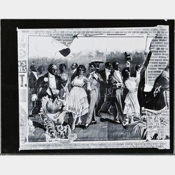 Walker Evans (American, 1903-1975)       Minstrel Show Bill Detail, Alabama