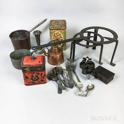 Group of Metal Kitchenware