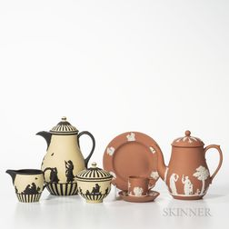 Six Modern Wedgwood Jasper Items