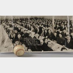 1937 Blackstone River Woolen Mills Baseball Teams Banquet Dinner and Dance with Red Sox and Yankees Guests Phot...