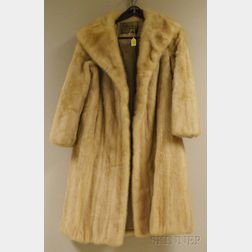 Lady's Tourmaline Mink Coat