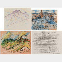 Ivan Le Lorraine Albright (American, 1897-1983)      Twenty-one Unframed Travel Sketches