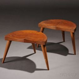 Pair of Low Stools Attributed to Arthur Cunningham