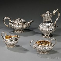 Assembled English Four-piece Sterling Silver Tea and Coffee Service
