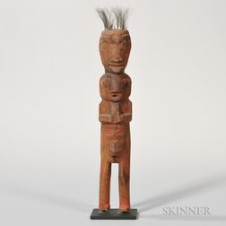 Northwest Coast Carved Wood Shaman's Figure