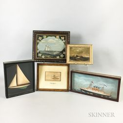 Five Small Framed Maritime Works
