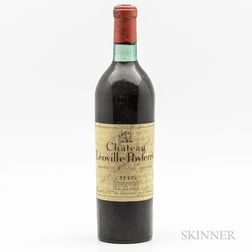 Chateau Leoville Poyferre 1942, 1 bottle