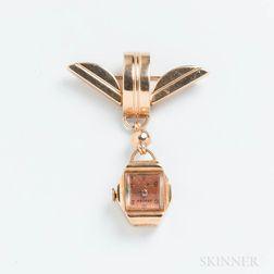 Avalon 14kt Gold Watch Pin