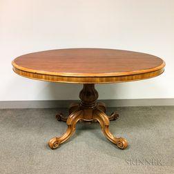 Rococo Revival-style Mahogany Tilt-top Table